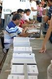 选举程序 免版税库存照片