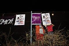 选举竞选5的开始的天 免版税图库摄影