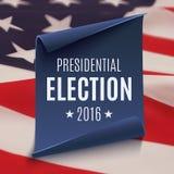 总统选举2016年背景 免版税库存图片