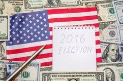 总统选举2016年 库存照片