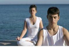 选件类凝思瑜伽 免版税库存图片
