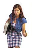 选件类女孩已故的学员 库存照片