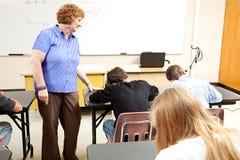 选件类学校测试 免版税库存图片