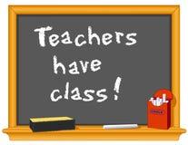 选件类有教师 库存例证