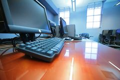 选件类计算机室 免版税库存图片