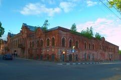 选出/利佩茨克州,俄罗斯- 2017年5月09日:老烟草工厂 免版税库存照片