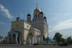 选出/利佩茨克州oblast,俄罗斯- 2017年5月08日:上生大教堂 免版税库存图片