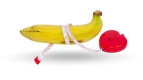 选拔在白色背景的耕种的香蕉 图库摄影