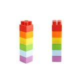 选拔堆玩具砖 免版税库存图片