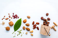 选择Ω 3和不饱和的油脂的食物来源 超级fo 图库摄影
