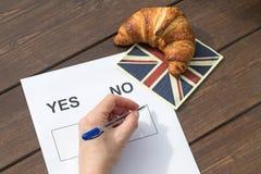 选择不在公民投票 库存照片