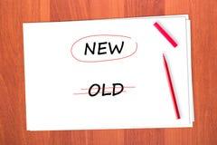 选择了新的字 免版税库存图片