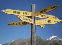 选择假日目的地-旅游业概念 免版税库存照片