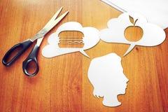 选择健康饮食的概念 免版税库存照片