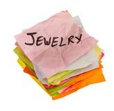 选择决策做消费的珠宝生活 免版税库存图片