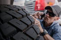 选择卡车轮胎 图库摄影