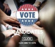 选择变化表决概念的候选人候选人 免版税库存图片