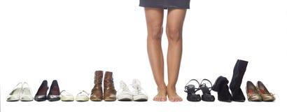选择坚硬有鞋子时间对什么妇女 库存图片