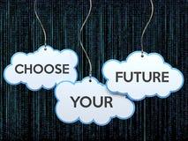 选择您的在云彩横幅的未来 向量例证
