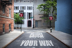 选择您的方式 免版税库存图片