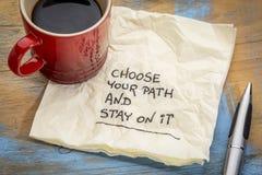 选择您的道路并且停留对此 免版税库存图片