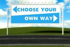 选择您自己的方式,概念 免版税库存图片
