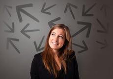 选择方向的企业人 免版税库存照片