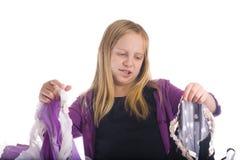 选择服装女孩 免版税图库摄影