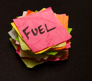 选择燃料生活货币消费 免版税库存图片
