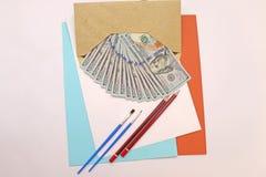选择的项目和笔记的构成 免版税库存图片