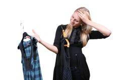 选择礼服二妇女 免版税库存照片