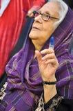 选择第一个自由的突尼斯选民 免版税图库摄影