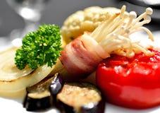 选择聚焦烤菜 免版税库存图片