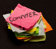 选择计算机生活货币消费 免版税库存图片