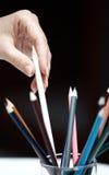 选择铅笔 免版税库存照片