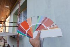 选择门面的一种新的颜色 免版税库存照片