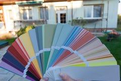 选择门面的一种新的颜色 库存照片