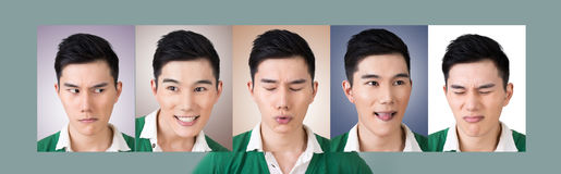 选择面孔表示  库存照片