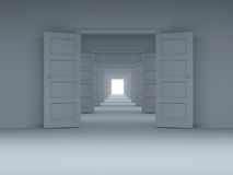 选择,创新的概念。3D. 免版税图库摄影
