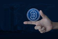 选择bitcoin概念, NA装备的这个图象的元素 库存图片