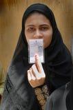 选民身份证 库存照片