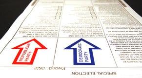 选票总统主要 免版税库存图片