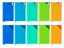 选项颜色模板 免版税图库摄影