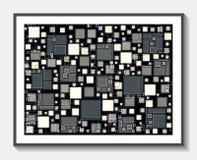 透亮瓦片、灰色、灰棕色和紫色 免版税库存图片