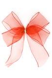 透亮红色的丝带 库存照片