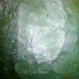 透亮绿色荧石矿石,多孔黏土rgb 图库摄影