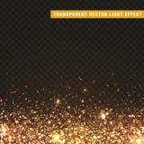 透明传染媒介光线影响金子,黄色 库存图片