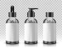 透明化妆瓶 向量例证