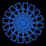 透明商标的摘要太阳elegan线蓝色或标志或者等 向量例证
