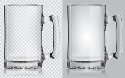 透明啤酒杯 库存图片